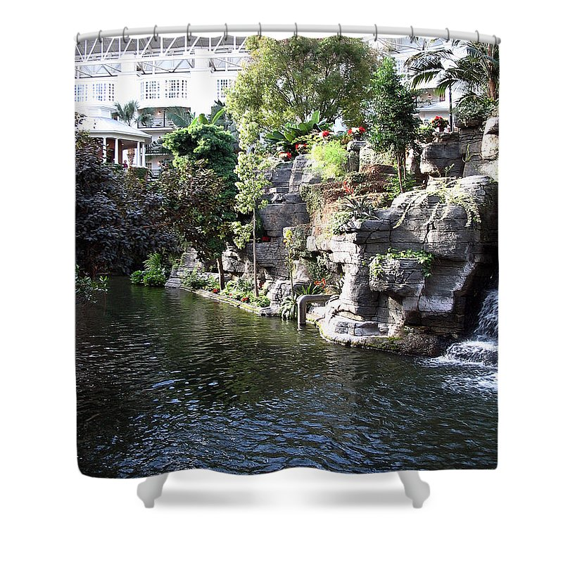 Waterway Shower Curtain featuring the photograph Waterway View Inside The Opryland Hotel In Nashville Tennessee In 2009 by Marian Bell