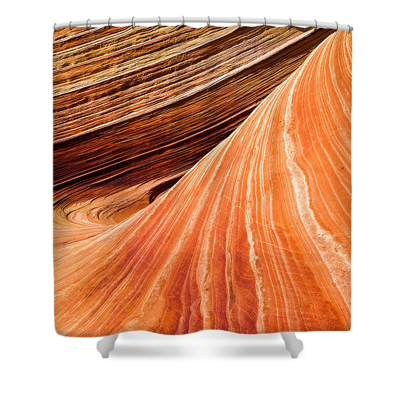 Wave Lines Shower Curtain featuring the photograph Wave Lines by Chad Dutson