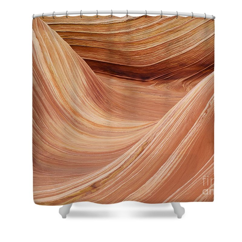 Landscape Shower Curtain featuring the photograph Wave Rock 3 At Coyote Buttes by Alex Cassels