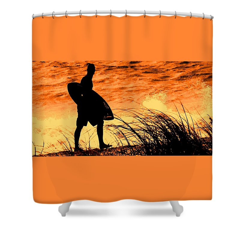 Florida Shower Curtain featuring the photograph Wave Search by Ian MacDonald