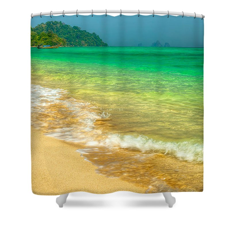 Asia Shower Curtain featuring the photograph Waves by Adrian Evans