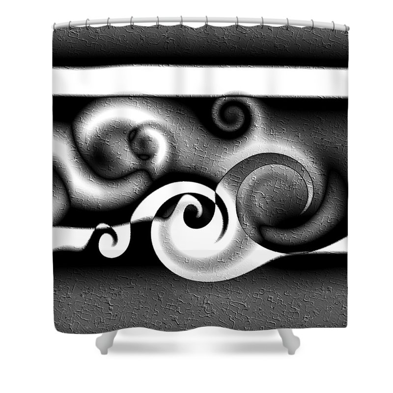 Wave Shower Curtain featuring the digital art Waves by Kiki Art