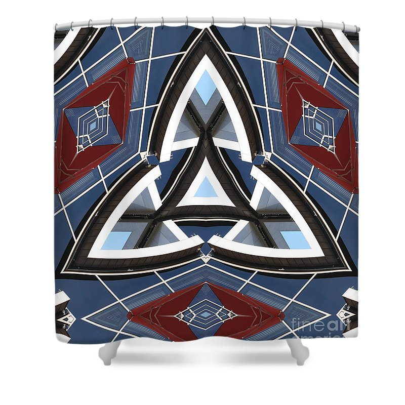 Waves Shower Curtain featuring the digital art Waves by Wendy Wilton