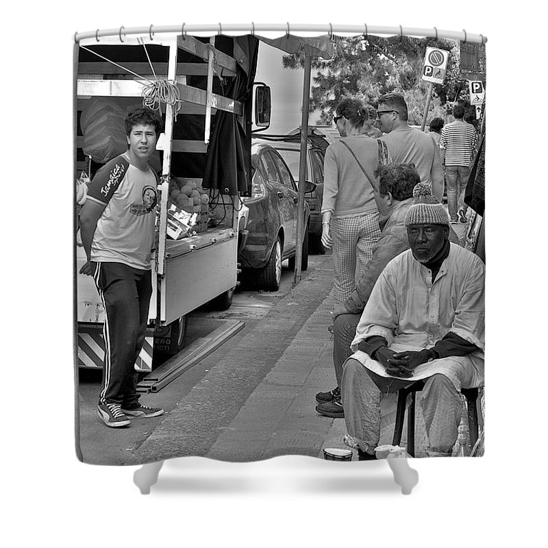 Taormina Shower Curtain featuring the photograph We Are On Sale by Donato Iannuzzi