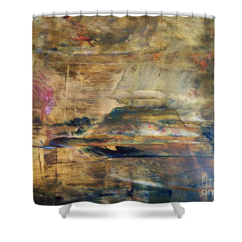 Abstract Painting Shower Curtain featuring the painting Weather World by Nancy Kane Chapman