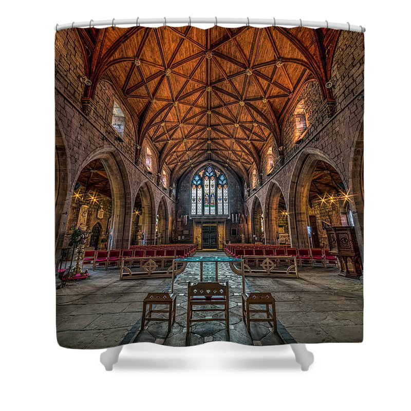 Cathedral Shower Curtain featuring the photograph Welsh Cathedral by Adrian Evans