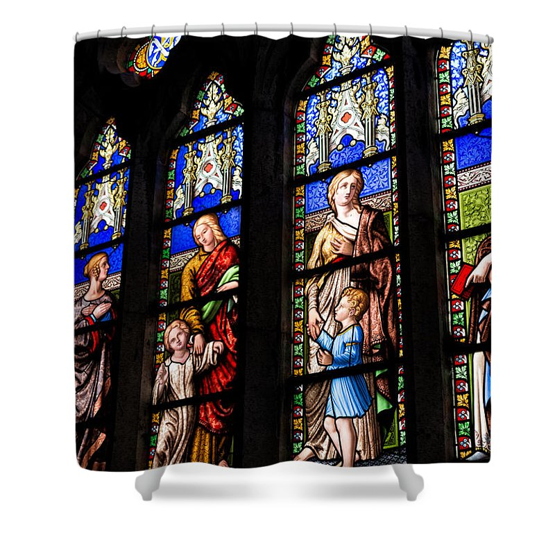 Ballantyne Shower Curtain featuring the photograph Welsh Glass by Adrian Evans