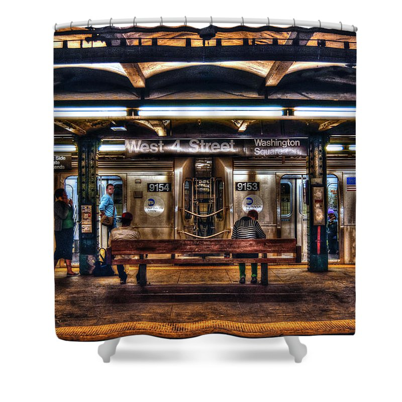 Manhattan Shower Curtain Featuring The Photograph West 4th Street Subway By Randy Aveille