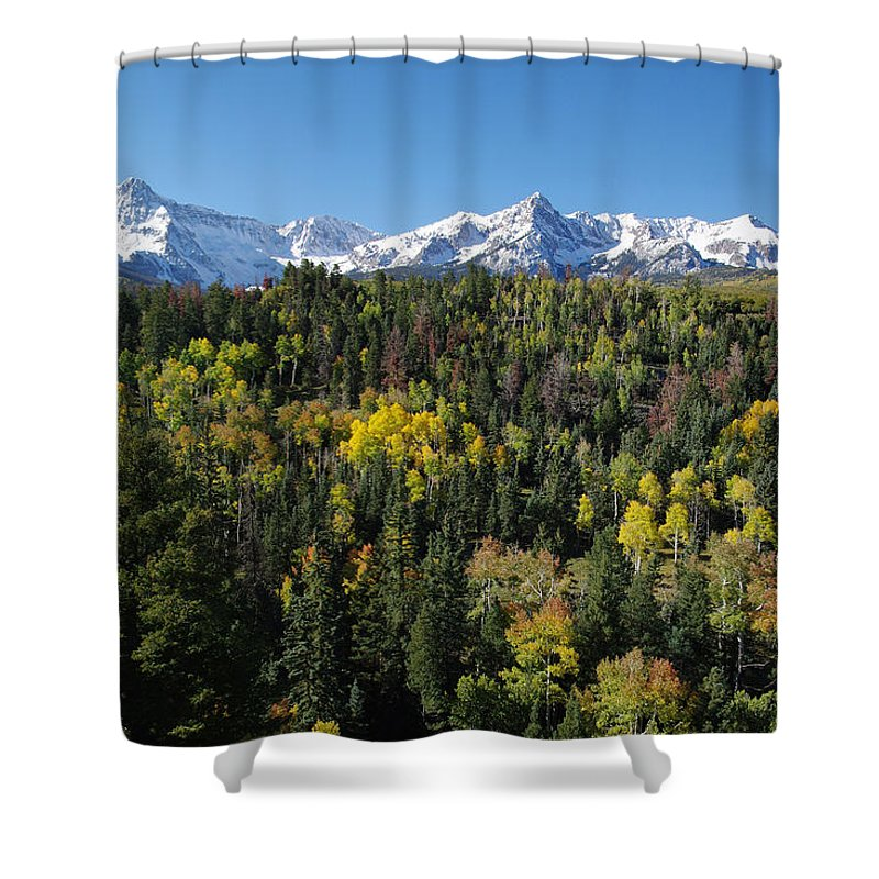 Colorado Photographs Shower Curtain featuring the photograph West End Of The Sneffles by Gary Benson