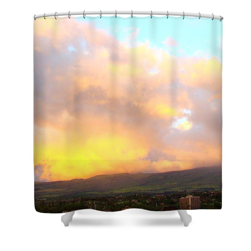 West Shower Curtain featuring the photograph West Maui Mountains by Melinda Baugh