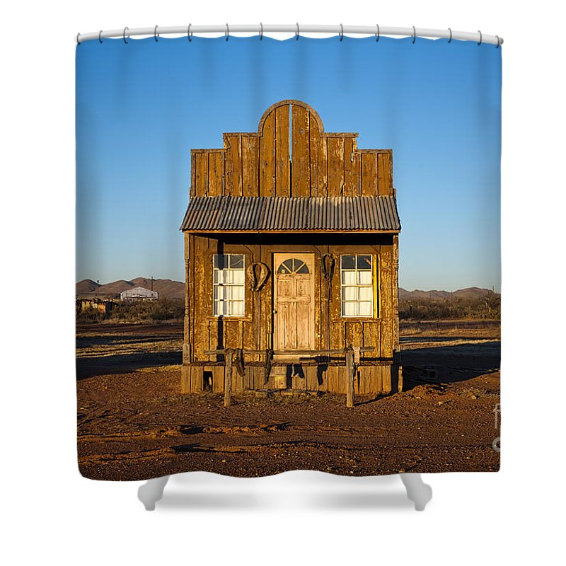 Building Shower Curtain featuring the photograph Western Building by David Arment