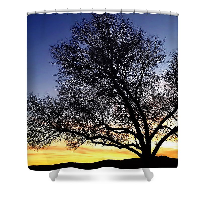 West Shower Curtain featuring the photograph Western Sunset by Marilyn Hunt