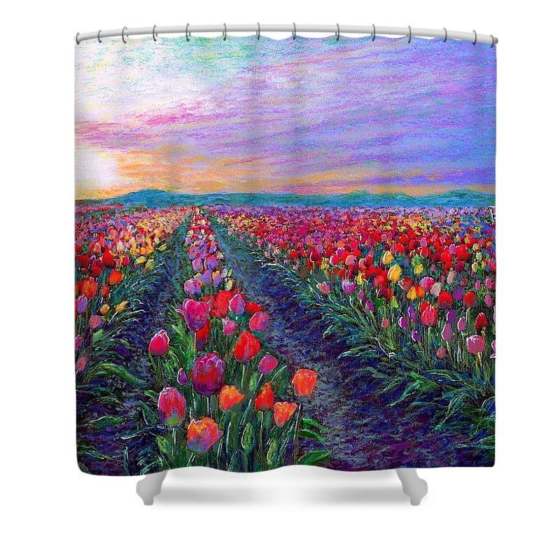 Tulip Field Shower Curtains