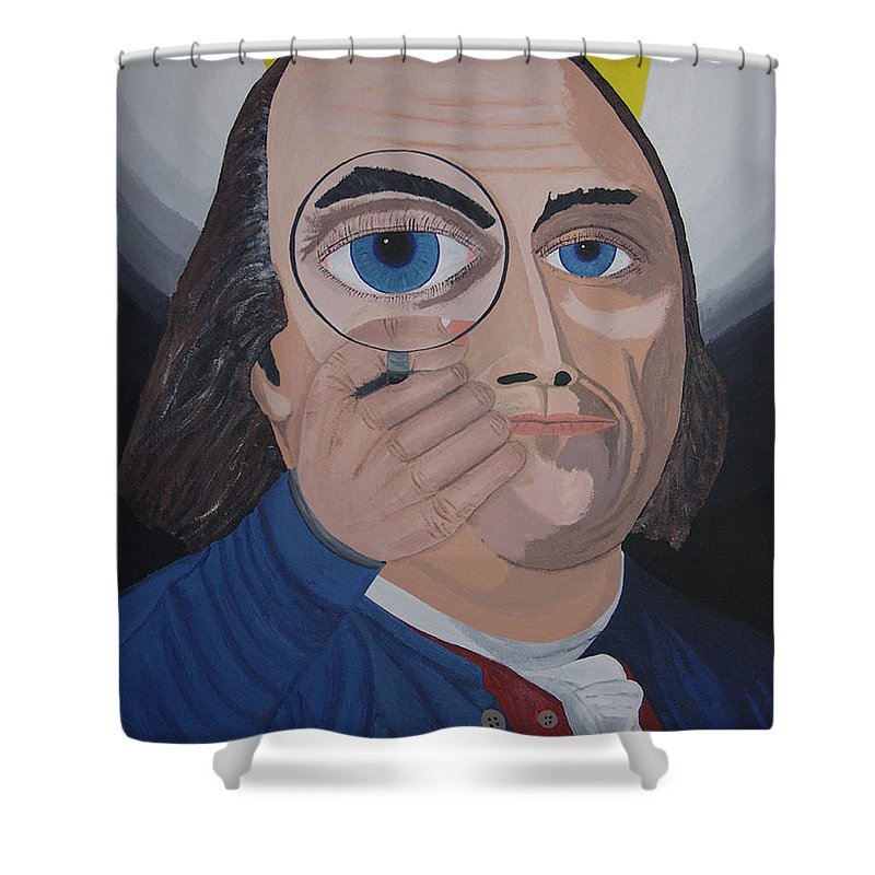 Historical Shower Curtain featuring the painting What Have You Done by Dean Stephens