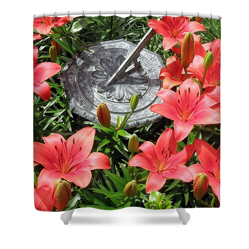 Sundial Shower Curtain featuring the photograph What Time Is It? by Jean Hall