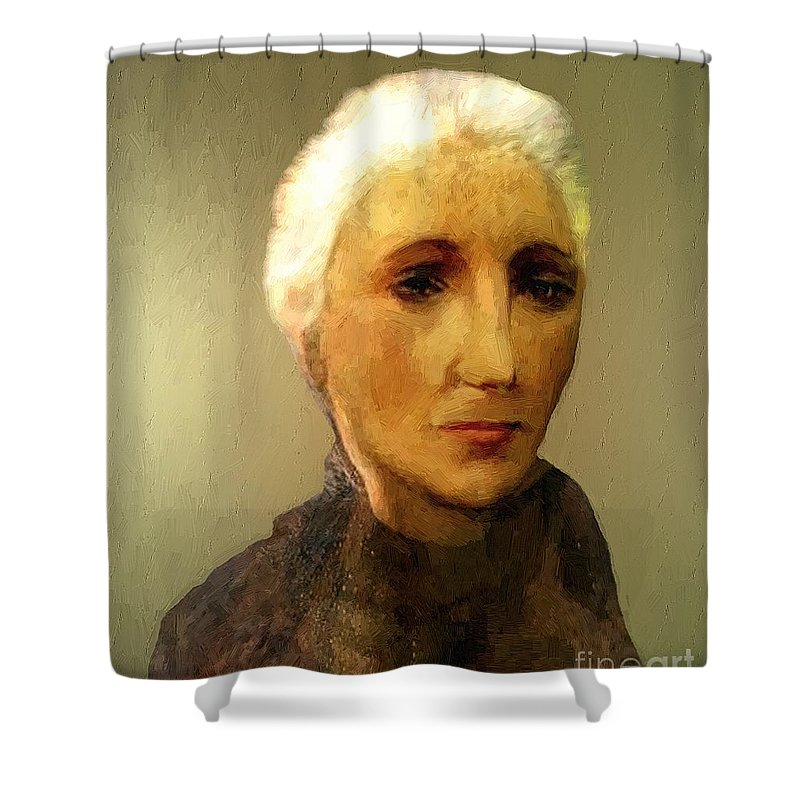 Woman Shower Curtain featuring the painting When I'm Sixty-four by RC DeWinter