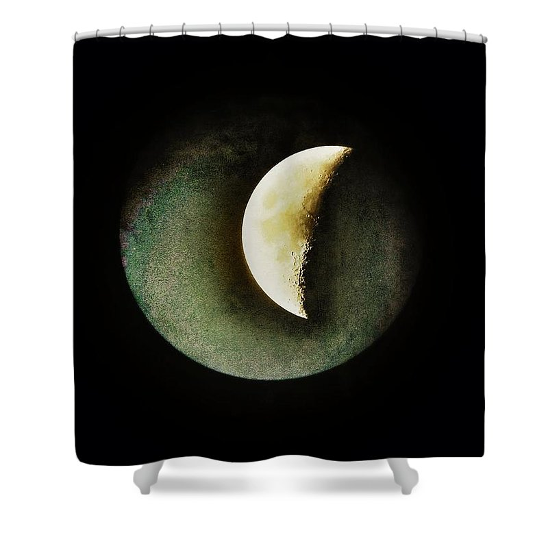 Moon Shower Curtain featuring the photograph When The Moons Collide by Marianna Mills