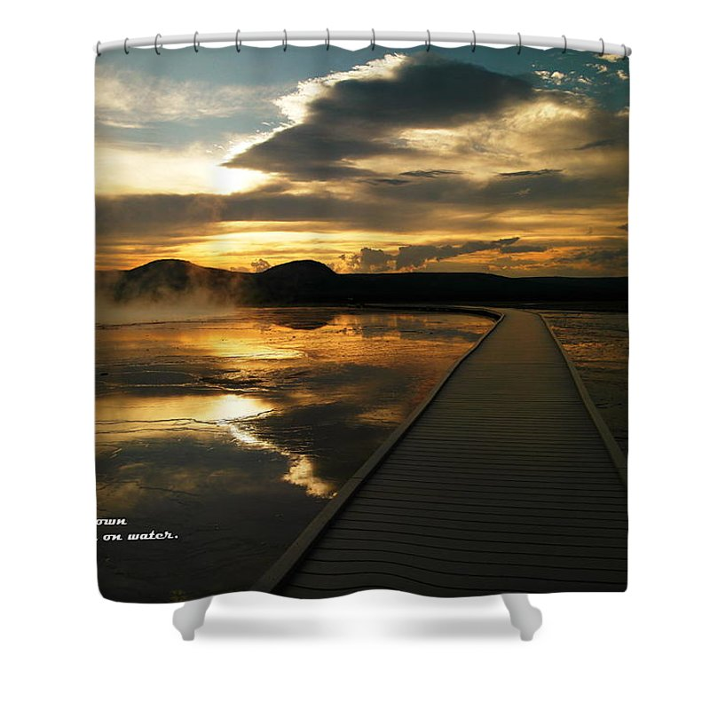Water Shower Curtain featuring the photograph When You Believe by Jeff Swan