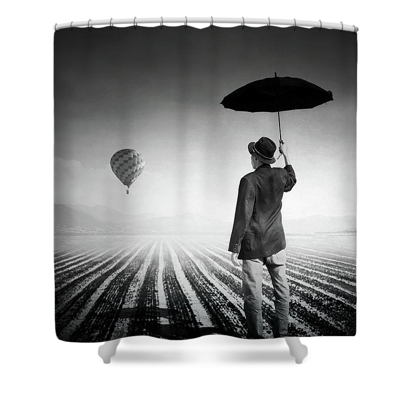 Shadow Shower Curtain featuring the photograph Where Oblivion Dwells by Saul Landell / Mex