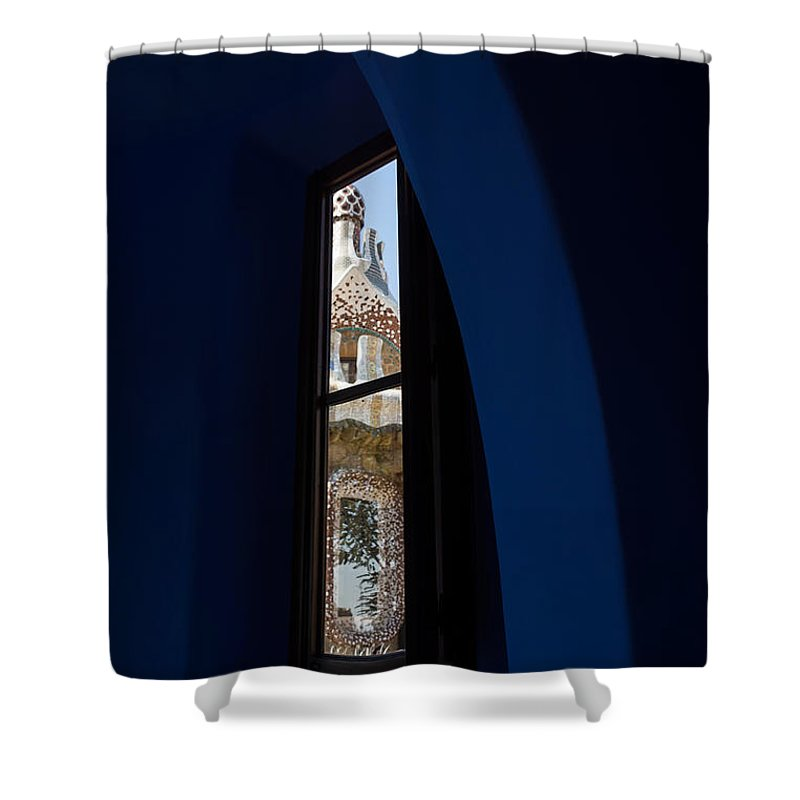 Georgia Mizuleva Shower Curtain Featuring The Photograph Whimsical Fanciful Antoni Gaudi