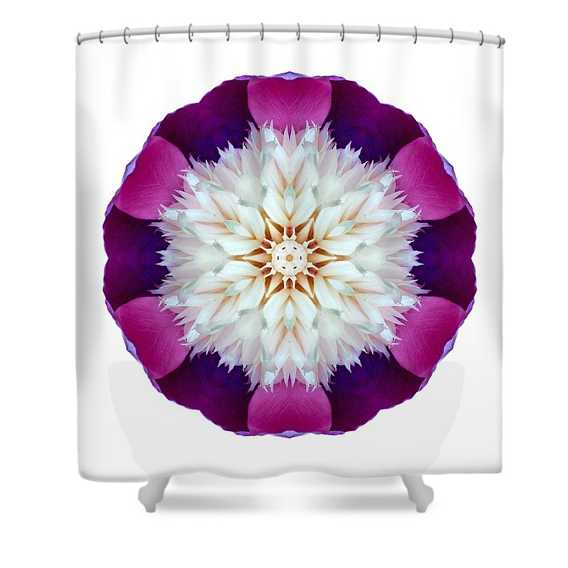Flower Shower Curtain featuring the photograph Bowl Of Beauty Peony II Flower Mandala White by David J Bookbinder