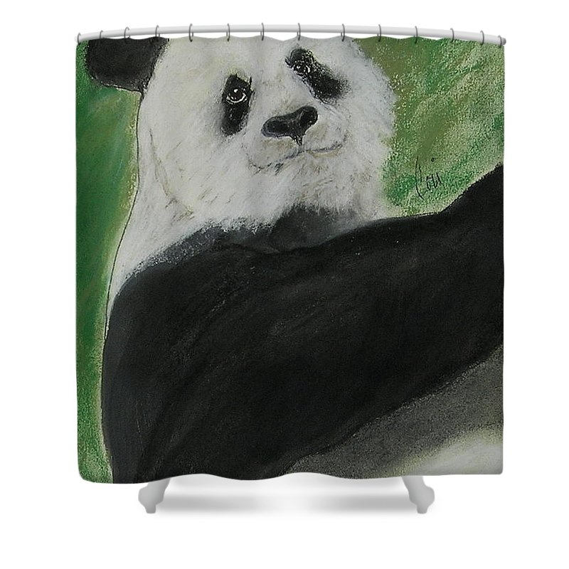 Pastel Shower Curtain featuring the drawing White Cloud by Cori Solomon