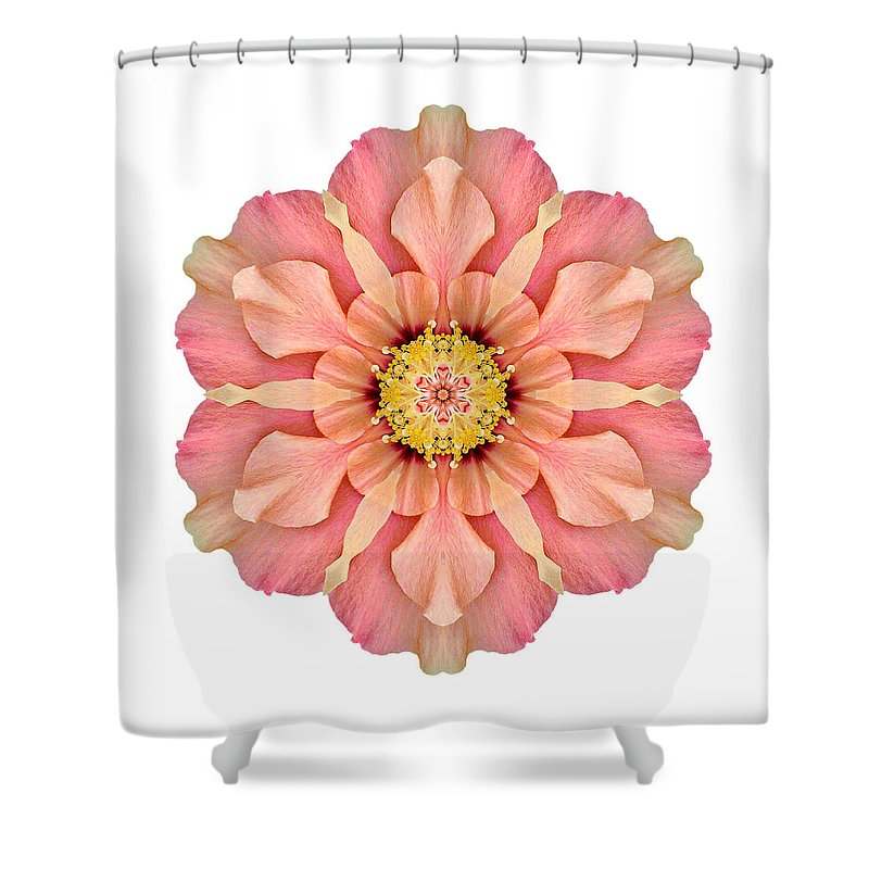 Flower Shower Curtain featuring the photograph Hibiscus Rosa-sinensis I Flower Mandala White by David J Bookbinder