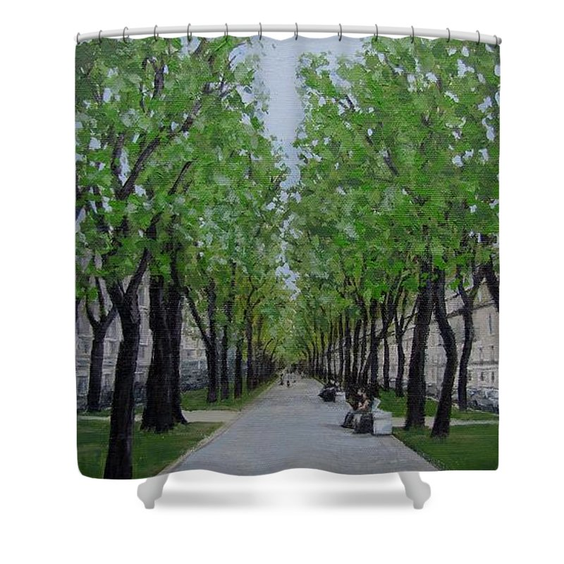 Russia Shower Curtain featuring the painting White Night In St. Petersburg by Karen Ilari