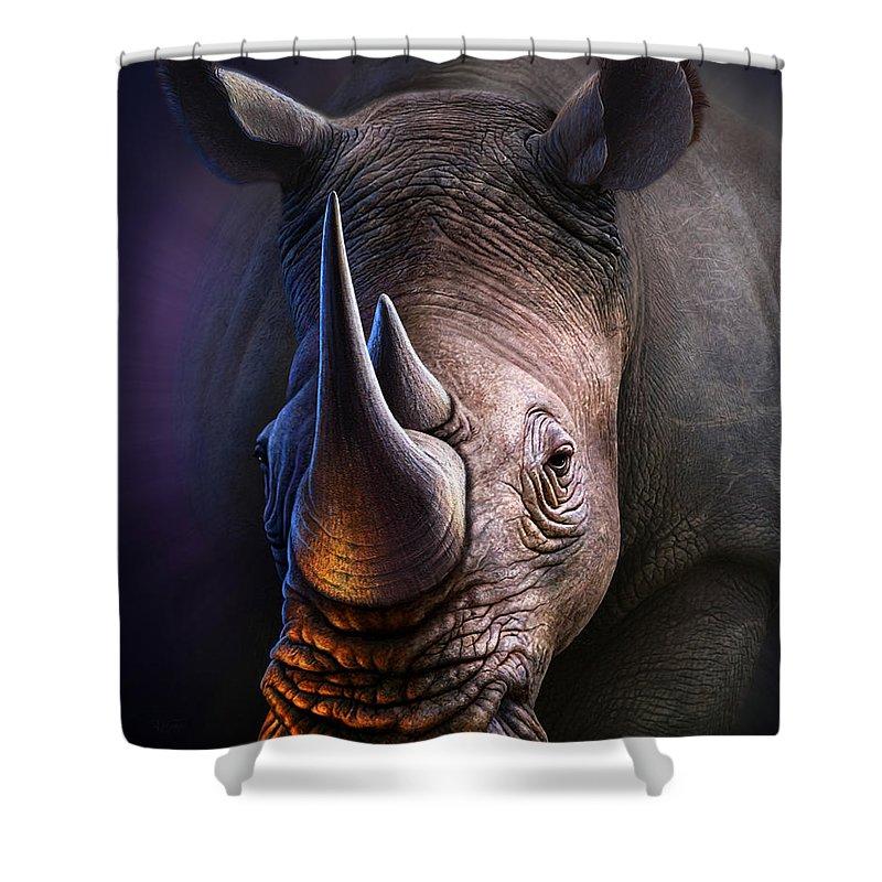 Big Horns Shower Curtains