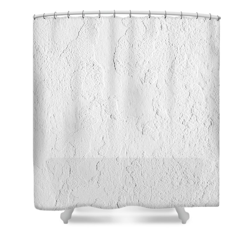 Wall Shower Curtain featuring the photograph White Stucco by Carlos Caetano