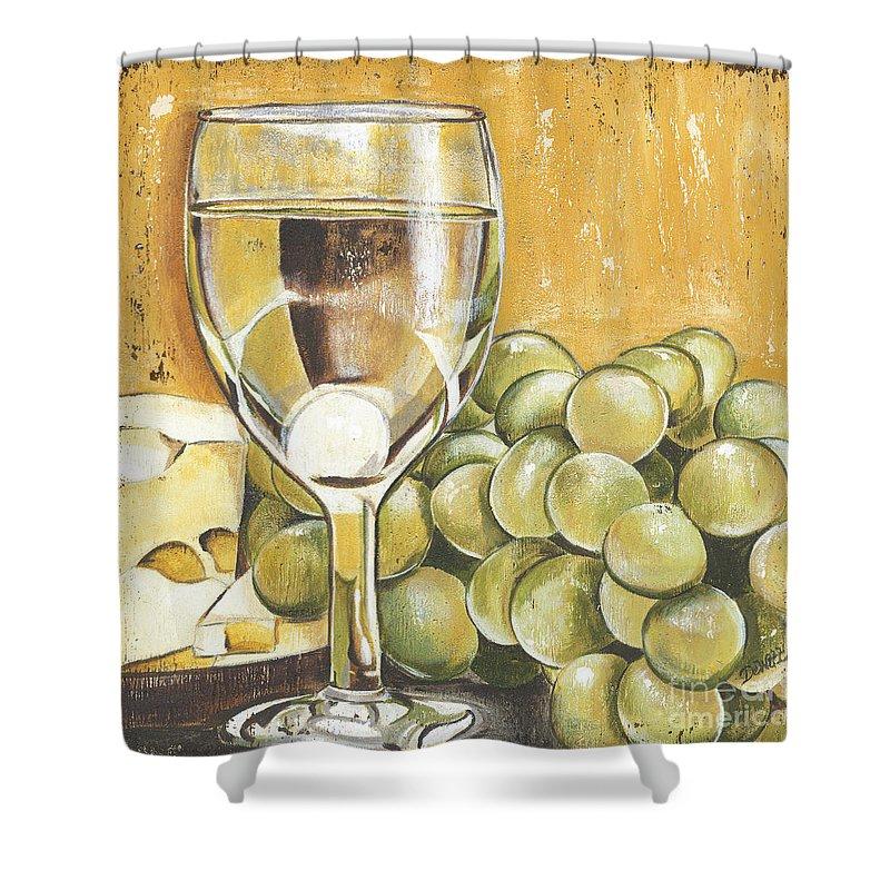 White Wine Shower Curtains