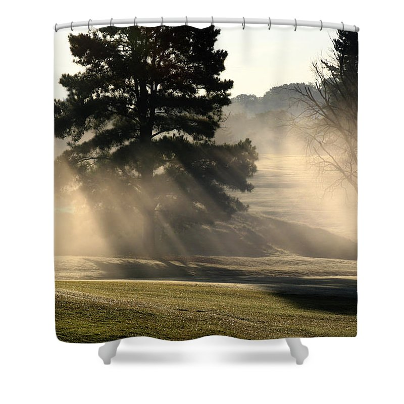 Shower Curtain featuring the photograph Whittle Springs Golf Course by Douglas Stucky