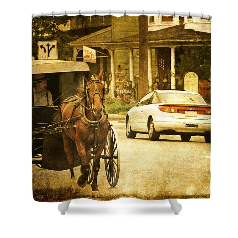 Who Are The Amish Shower Curtain featuring the photograph Who Are The Amish by Wes and Dotty Weber