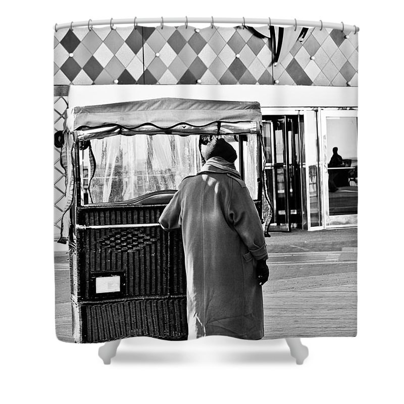 Man Shower Curtain featuring the mixed media Who Needs A Ride by Trish Tritz