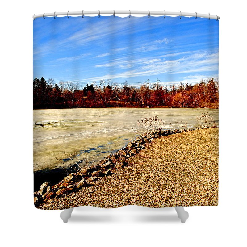 Sky Shower Curtain featuring the photograph Wild Blue Yonder by Frozen in Time Fine Art Photography