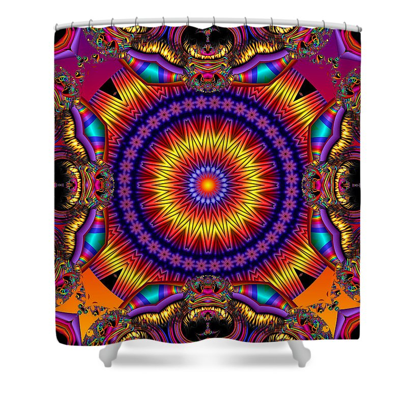 Colorful Shower Curtain featuring the digital art Wild Card by Robert Orinski