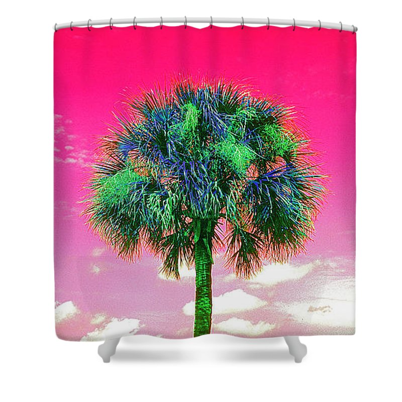 Wild Palms Shower Curtain featuring the photograph Wild Palm 2 by John Douglas