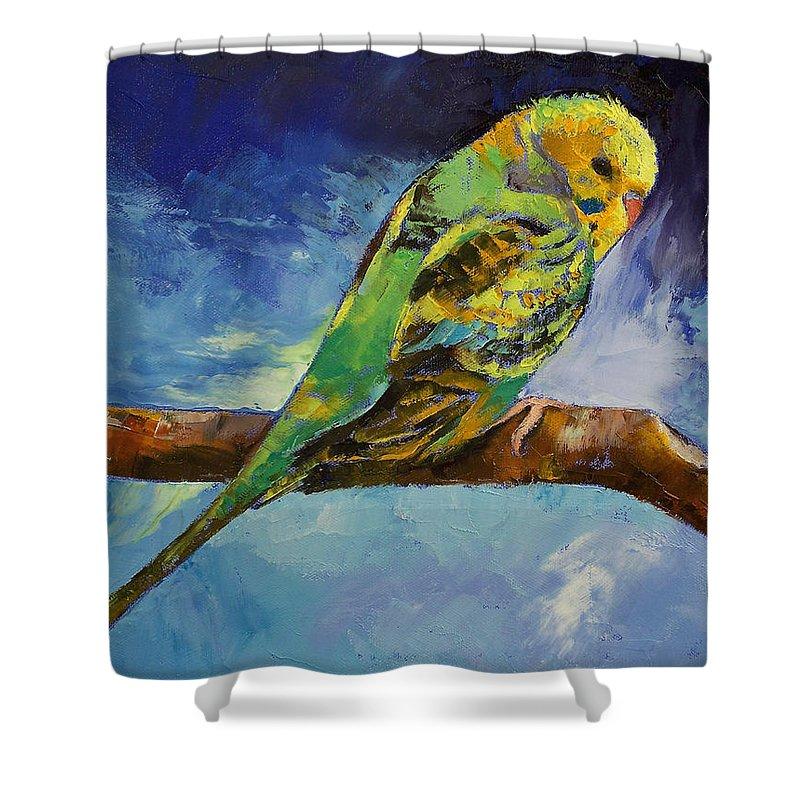 Parakeet Shower Curtains