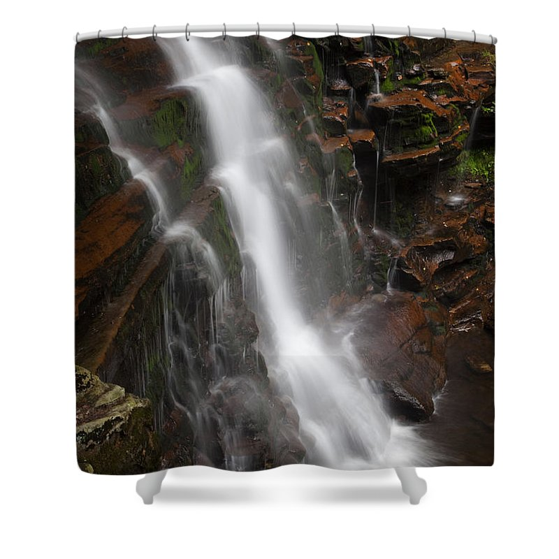 Waterfall Shower Curtain featuring the photograph Wilderness Waterfall Dawn by John Stephens