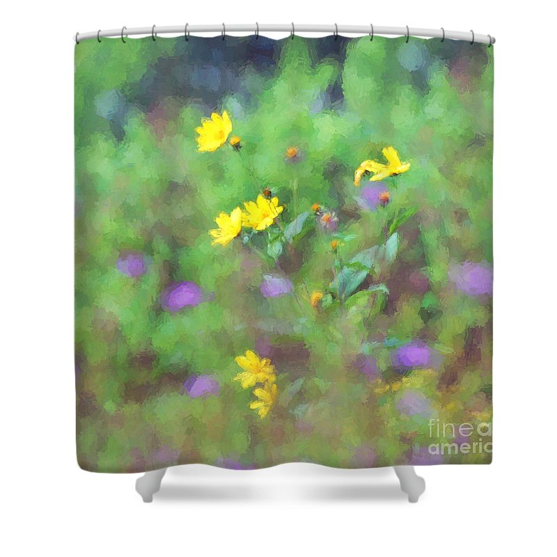 Wildflowers Shower Curtain featuring the photograph Wildflowers 1 by Kerri Farley