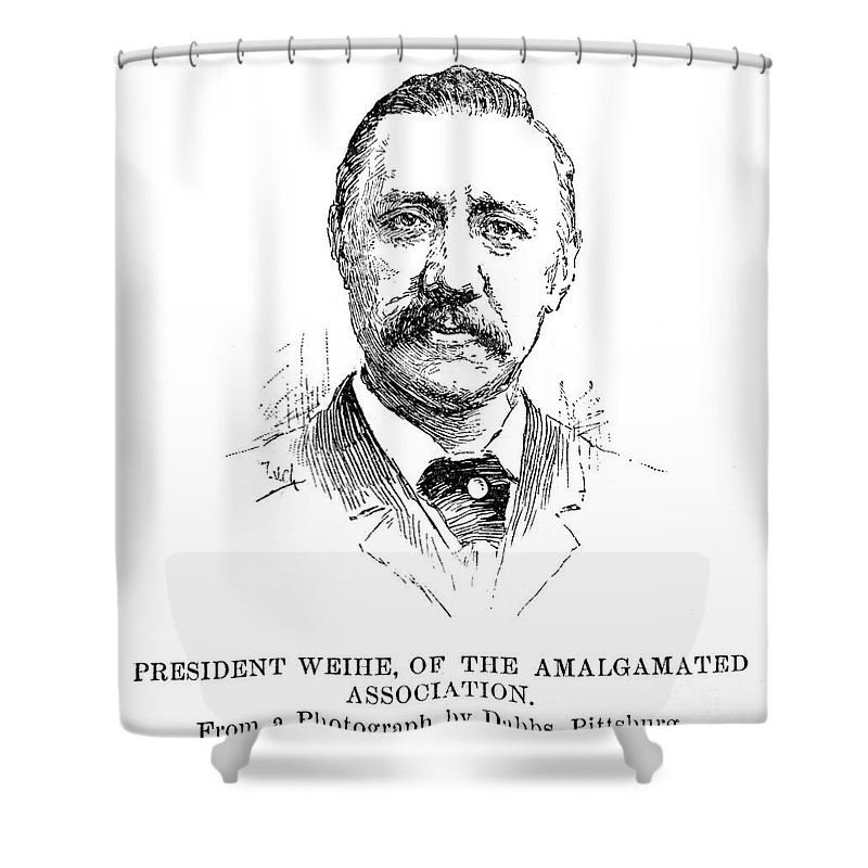 1892 Shower Curtain featuring the drawing William Weihe by Granger