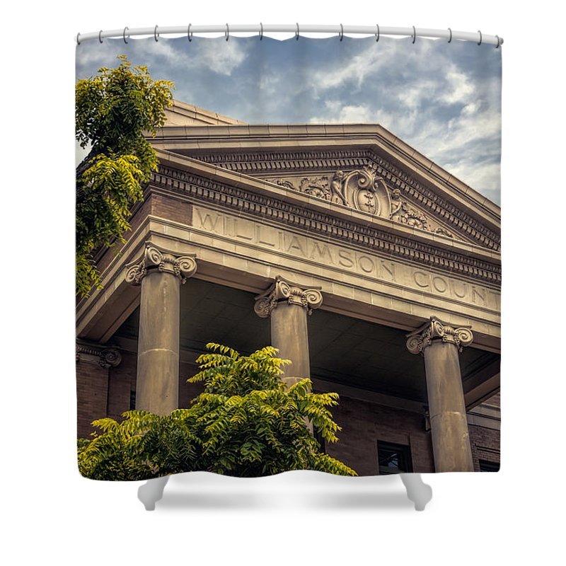 Joan Carroll Shower Curtain featuring the photograph Williamson County Courthouse by Joan Carroll
