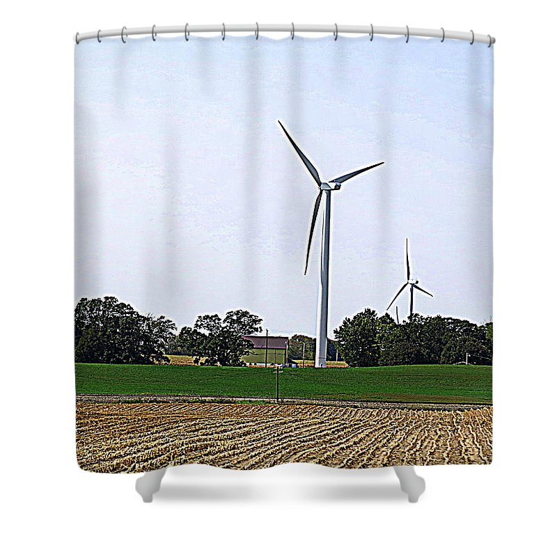 Wind Turbine Shower Curtain featuring the photograph Wind Power by Kay Novy