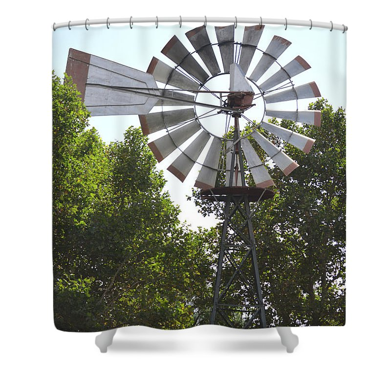 Barbara Snyder Shower Curtain featuring the digital art Windmill by Barbara Snyder