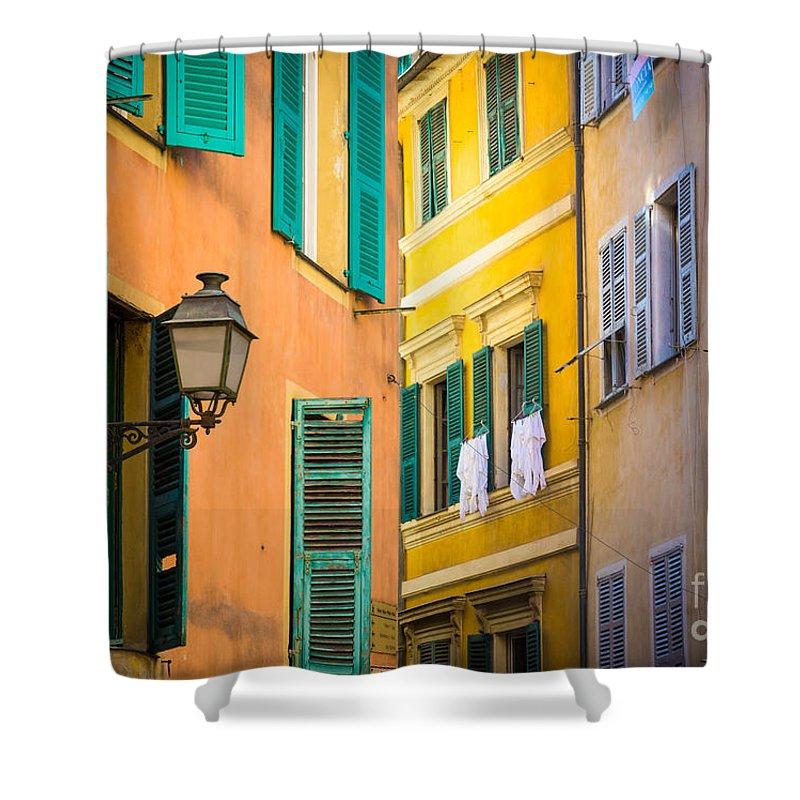 Cote D'azur Shower Curtain featuring the photograph Window Cornucopia by Inge Johnsson