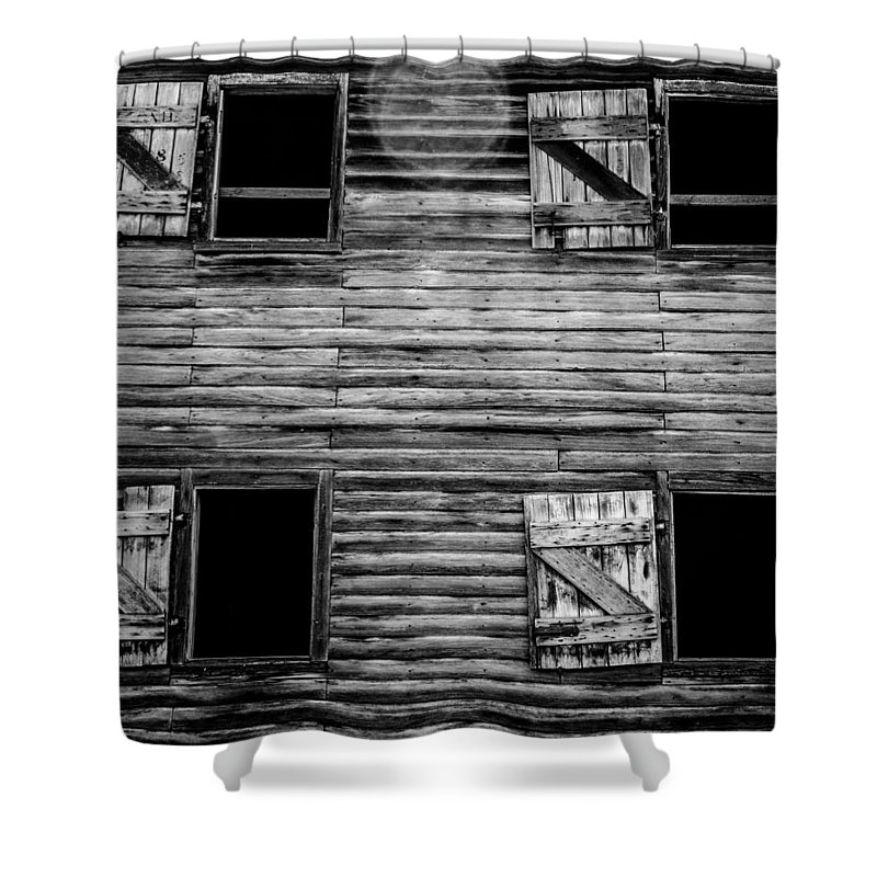 Barn Shower Curtain featuring the photograph Window To The Past by Kaleidoscopik Photography