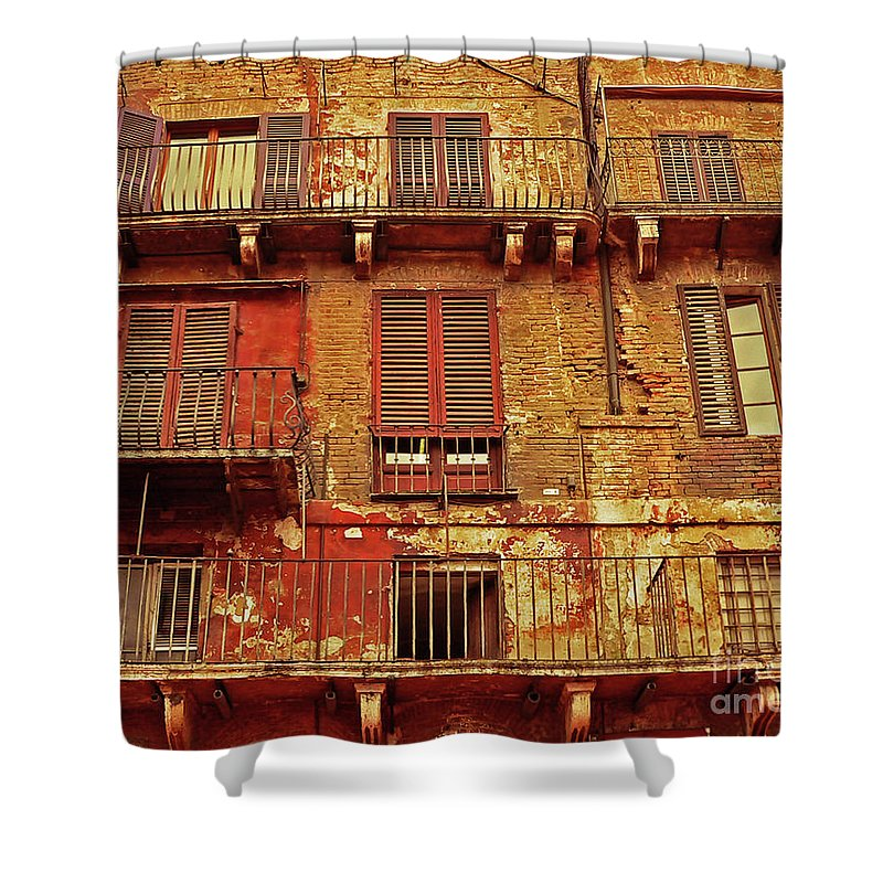 Window Shower Curtain featuring the photograph Windows With A View by Angela Wright
