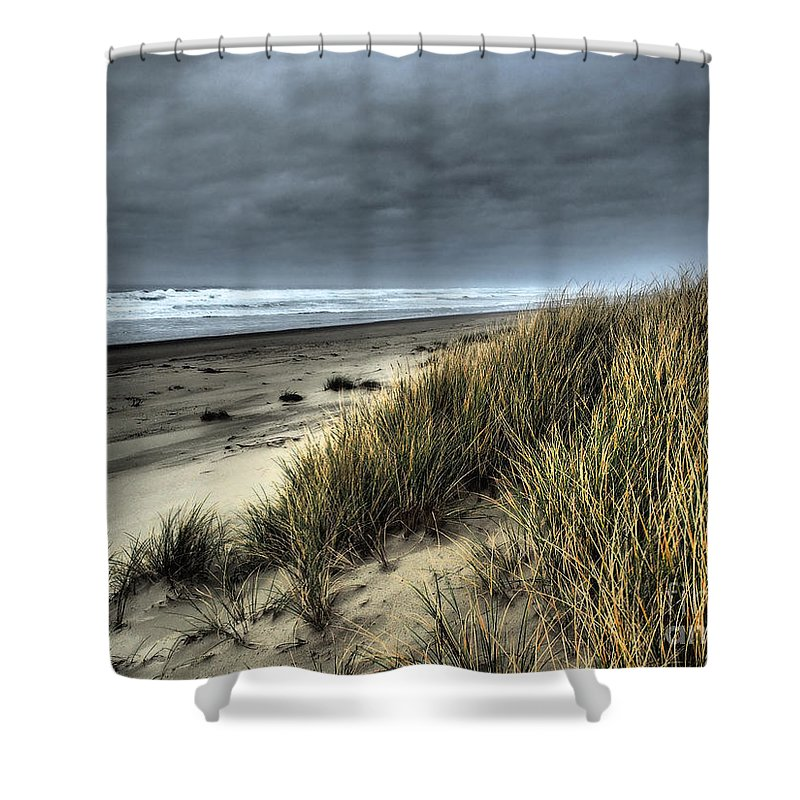 Beach Shower Curtain featuring the photograph Windswept by Parrish Todd