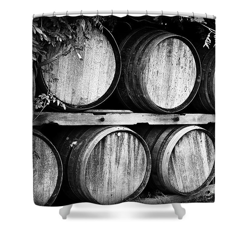Wine Shower Curtain featuring the photograph Wine Barrels by Scott Pellegrin