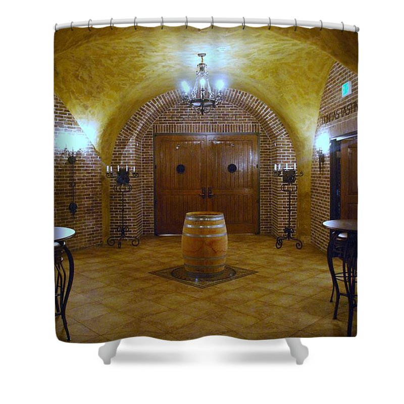 Wine Shower Curtain featuring the photograph Wine Cave by Bradley Bennett